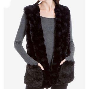 [Max Studio] Faux Fur Tie Front Vest